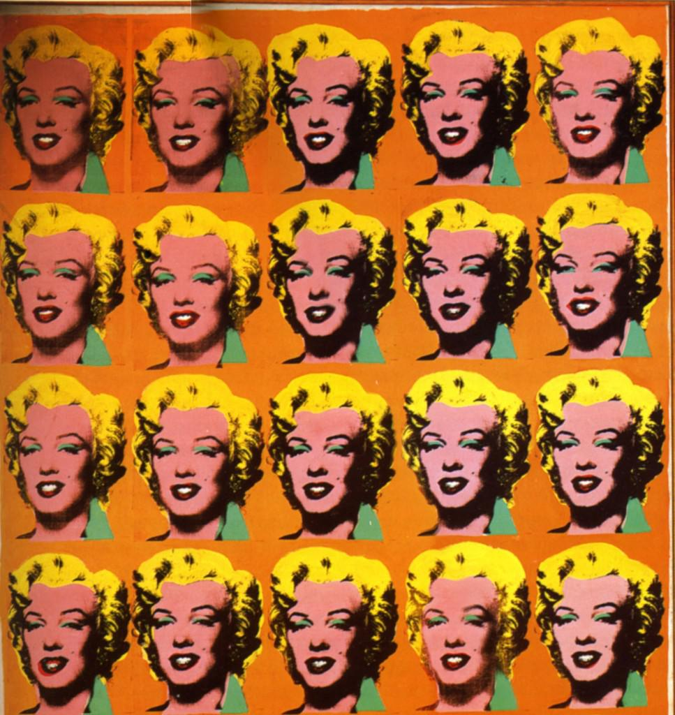 Figure 1. Andy Warhol -- Marilyn Diptych (detail), 1962