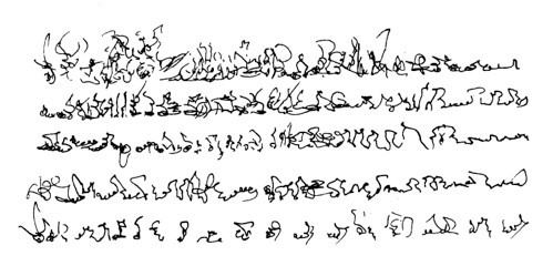 Fig. 25: Detail from Narration, Henri Michaux, 1927