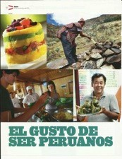 """Figure 2. A 2011 magazine article (""""The Pleasure/Taste of Being Peruvians"""") celebrating culinary diversity (Perich 2011)"""