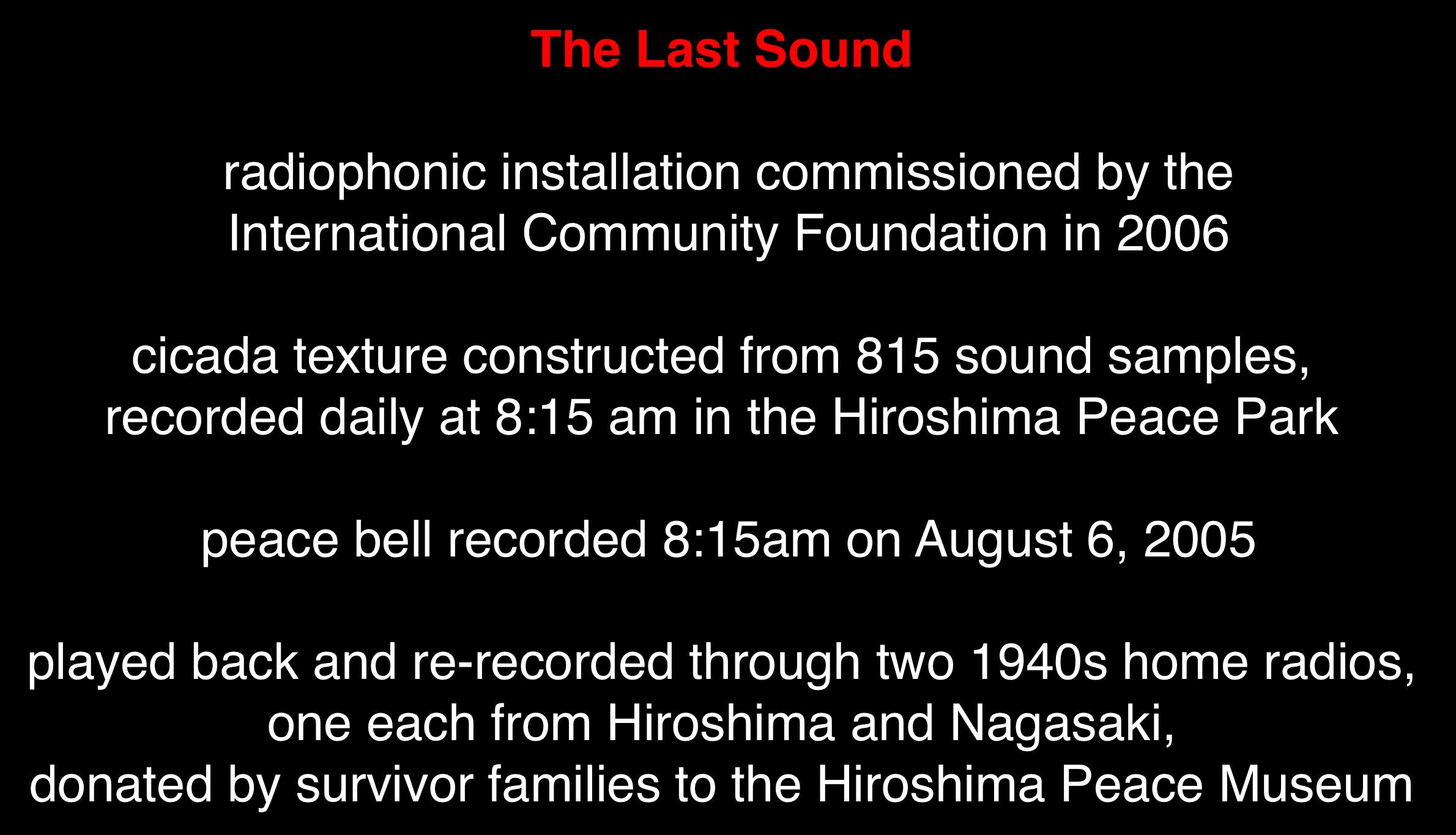 "Figure 6. ""The Last Sound"" by Steven Feld."