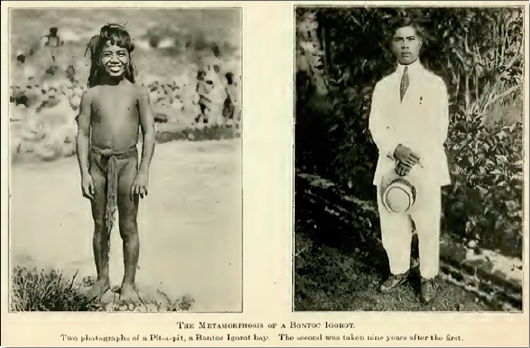 Figure 5. The Metamorphosis of a Bontoc Igorot; from Worcester 1914:frontispiece.