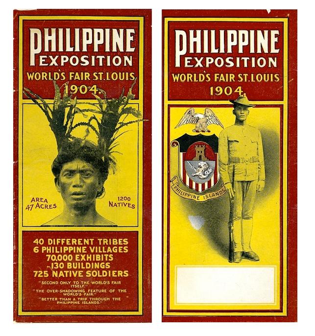 Figure 7. Philippine Exposition Brochure: Front (Left) and Back Covers; from Philippine Exposition Brochure, 1904 World's Fair.