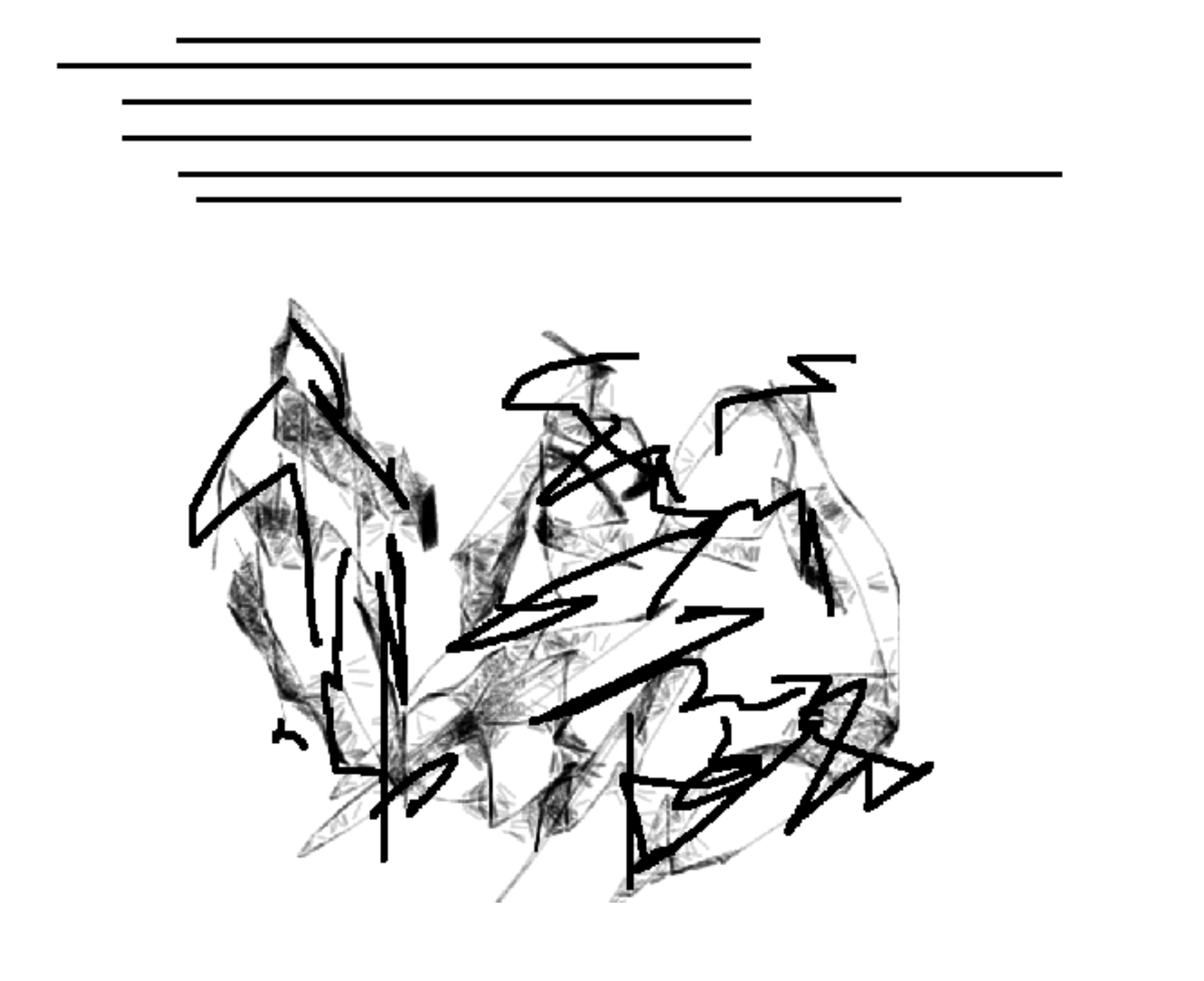 Example 8. A line drawing and its impression; from Haviland 1993:22