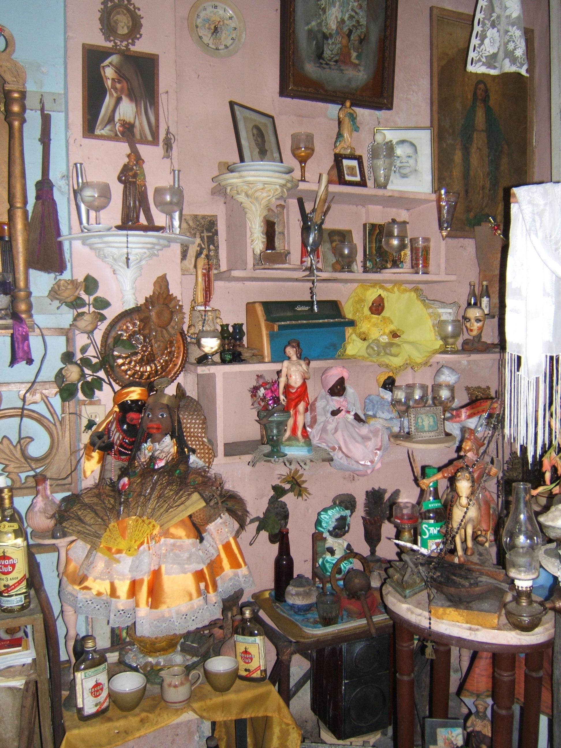 Figure 8. Another view of Pedro's altar. Photograph by author. Santiago de Cuba, August 2008. Photograph by author.