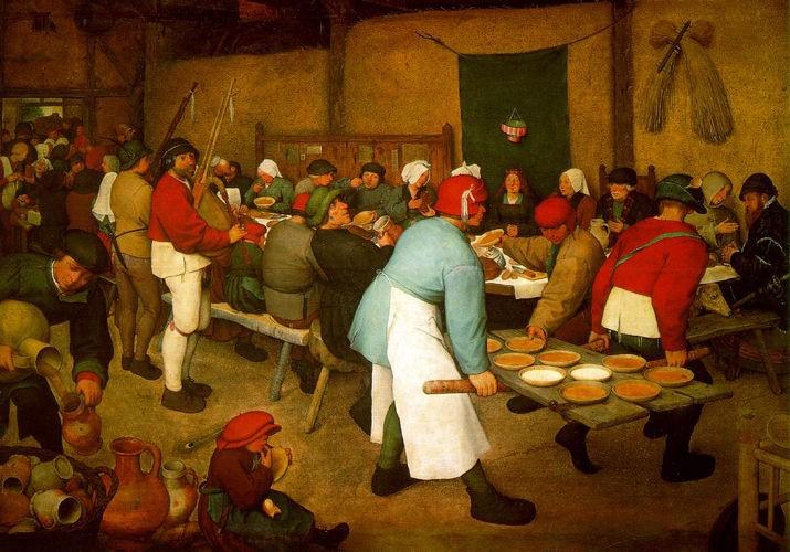 "Image: Breugel painting ""Peasant Wedding"" 1567"