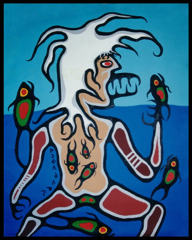 Image: Windigo by Norval Morrisseau