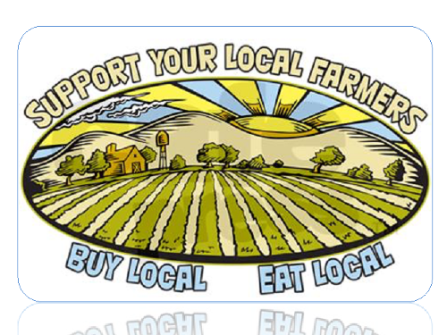 Image: Support Your Local Farmers. Buy Local. Eat Local.
