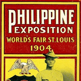 Cropped image from front of 1904 World's Fair Philippine Exposition brochure